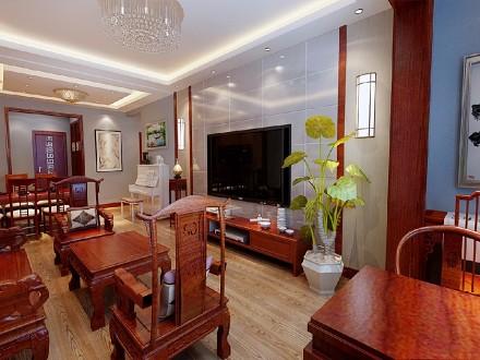 中式风格九十五平米客厅3图