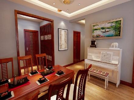 中式风格九十五平米厨房1图