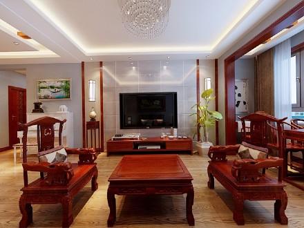 中式风格九十五平米客厅1图