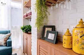 70㎡美式两居,温馨优雅好舒适!阳台美式经典设计图片赏析