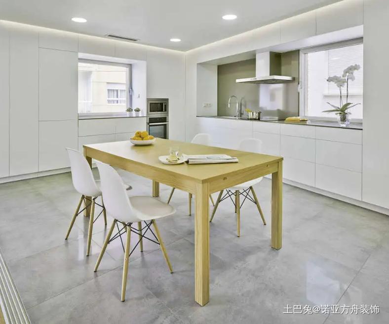 简约风一室五十七平小户型设计厨房现代简约餐厅设计图片赏析
