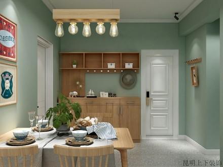 85㎡北欧风,知否,知否?应是绿肥红瘦厨房2图