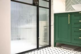 100㎡法式轻奢混搭,精致浪漫的理想生活卫生间潮流混搭设计图片赏析