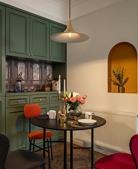 几何+色彩,打造时尚复古的美家~厨房美式经典设计图片赏析