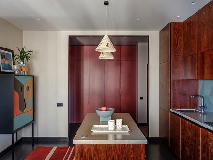 丰富的色彩碰撞,营造不一样的空间厨房
