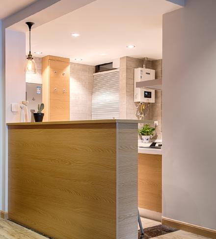 58平米现代风格,仙气满满的家餐厅