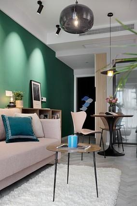 50㎡浪漫的小两房让幸福常驻玄关潮流混搭设计图片赏析