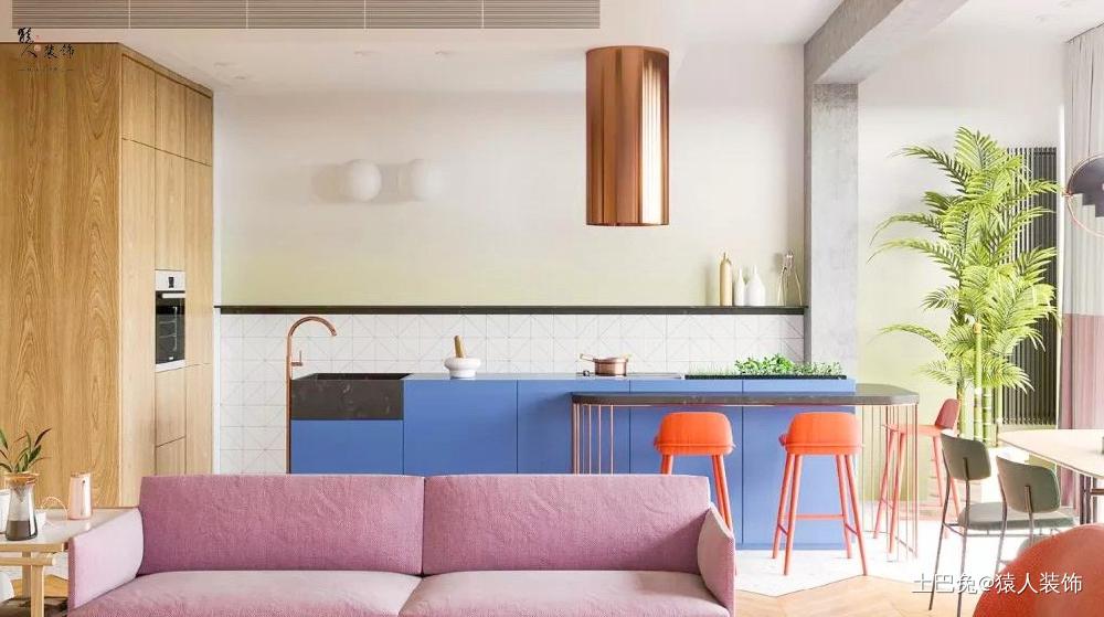 103㎡极简柔和的色彩舒适自然客厅茶几现代简约客厅设计图片赏析