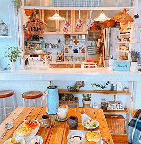 日系田园的清新貌美小家厨房1图日式设计图片赏析