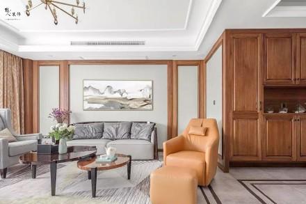 150㎡现代中式,不落俗套好大气!客厅