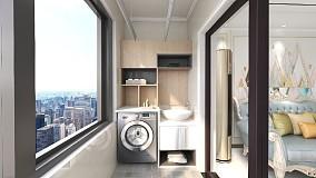 万达广场110㎡李小姐的新居阳台欧式豪华设计图片赏析