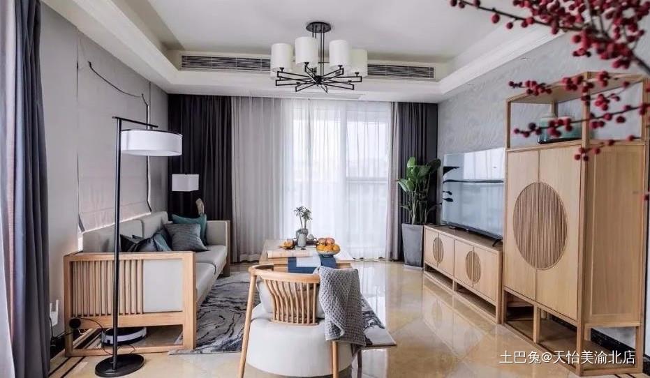 中式风玄关电视墙处处显中式基调客厅中式现代客厅设计图片赏析