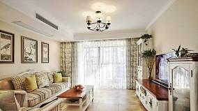 100平米美式田园风,温馨的小家客厅美式田园设计图片赏析