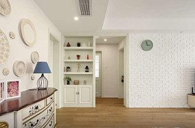 125平清新唯美的小美三居室功能区美式田园设计图片赏析