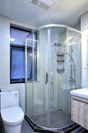 130㎡现代简约风三居室回忆卫生间设计图片赏析
