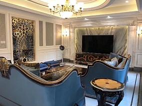 百花庄园欧式风格360平6居室效果客厅欧式豪华设计图片赏析