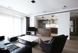 180平现代极简公寓