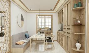 原木新中式,以品质雕塑生活!厨房中式现代设计图片赏析