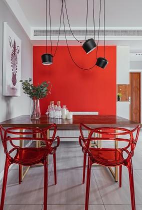 平淡生活里的诗空间撞色的独特魅力厨房3图现代简约设计图片赏析