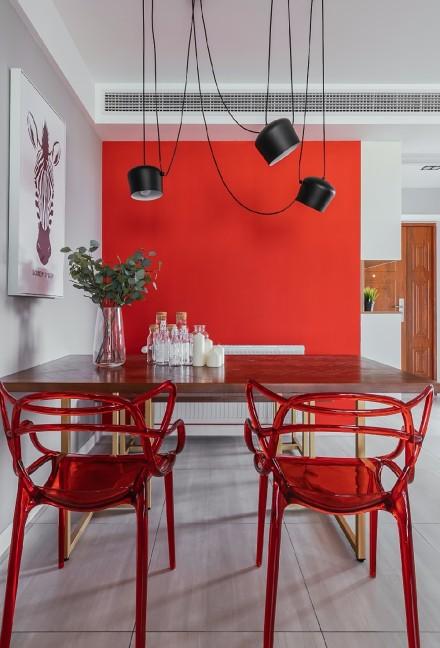 平淡生活里的诗空间撞色的独特魅力厨房3图