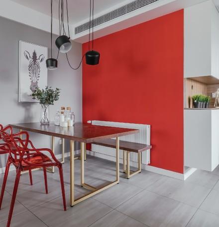 平淡生活里的诗空间撞色的独特魅力厨房2图