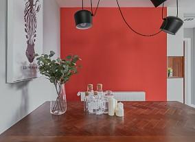 平淡生活里的诗空间撞色的独特魅力厨房1图现代简约设计图片赏析