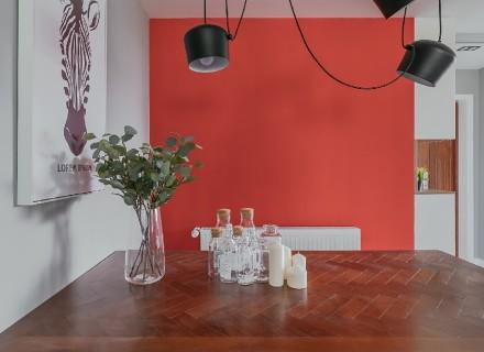 平淡生活里的诗空间撞色的独特魅力厨房1图