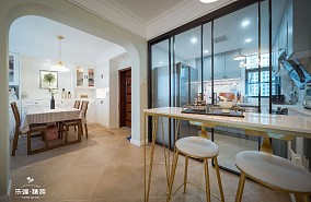 三居室的美式雅房|家的感觉清新又温暖厨房美式经典设计图片赏析