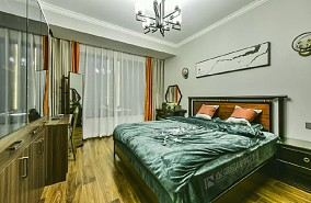 125㎡轻奢中式刘生的新家卧室中式现代设计图片赏析