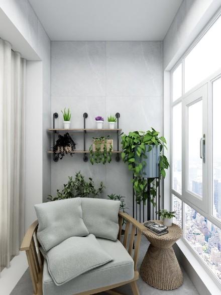 新中式风格炽热与淡雅的结合阳台2图