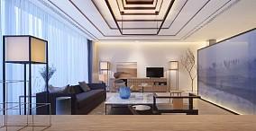 听蓝时光杨女士的小窝客厅1图中式现代设计图片赏析