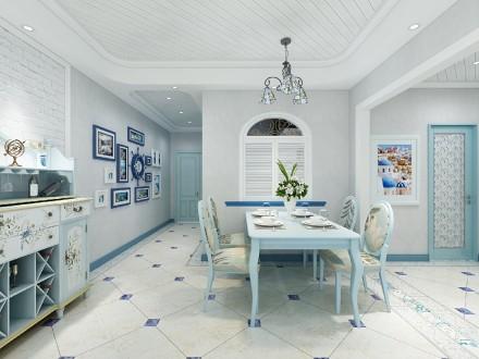 恒大雅苑80平米的地中海风格厨房