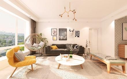 时尚现代北欧风之温馨暖家客厅