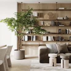 130㎡现代公寓客厅设计,舒适的极简主义