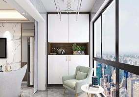 泰宏建业116平方轻奢三居室设计方案阳台1图潮流混搭设计图片赏析