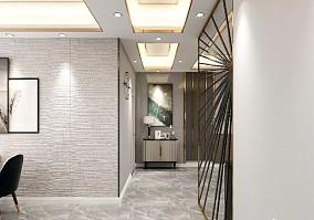泰宏建业116平方轻奢三居室设计方案玄关潮流混搭设计图片赏析