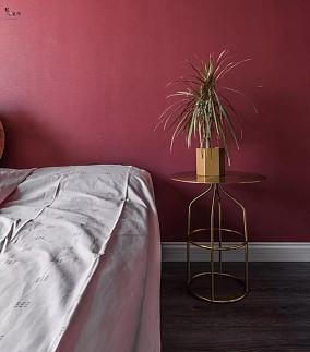 110平美式混搭三室客厅+书房开阔空间卧室潮流混搭设计图片赏析