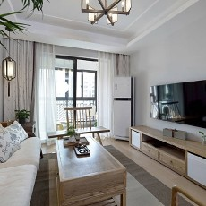 90㎡新中式的小两居客厅