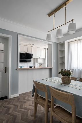 【天青色等烟雨】80㎡简美风格厨房2图美式田园设计图片赏析