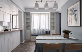 【天青色等烟雨】80㎡简美风格厨房4图美式田园设计图片赏析
