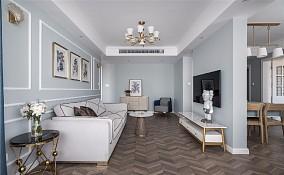 【天青色等烟雨】80㎡简美风格客厅3图美式田园设计图片赏析