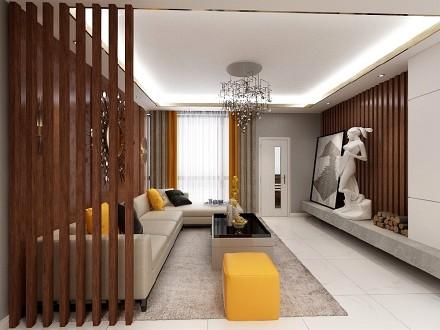 新中式风格118平三居室客厅