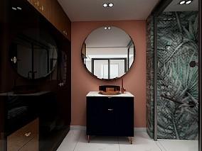 新中式风格118平三居室卫生间中式现代设计图片赏析