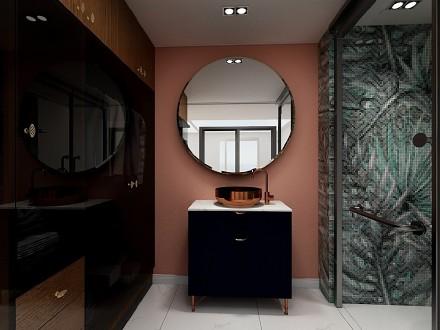 新中式风格118平三居室卫生间