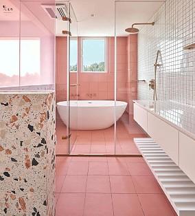 144㎡小别墅,一人三猫的浪漫满屋!卫生间现代简约设计图片赏析