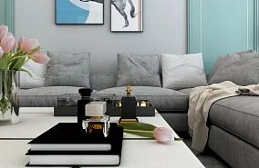 102㎡地中海轻奢风格两室客厅2图地中海设计图片赏析