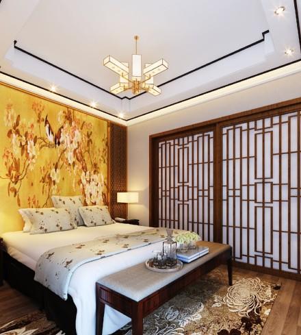 109㎡韵味十足的中式卧室