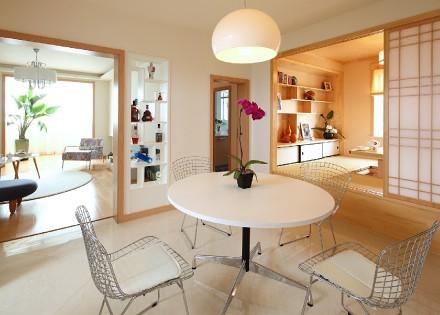 140m²现代风,纯色清新水墨画厨房