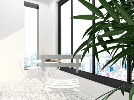 中建柒号院133㎡中式设计阳台