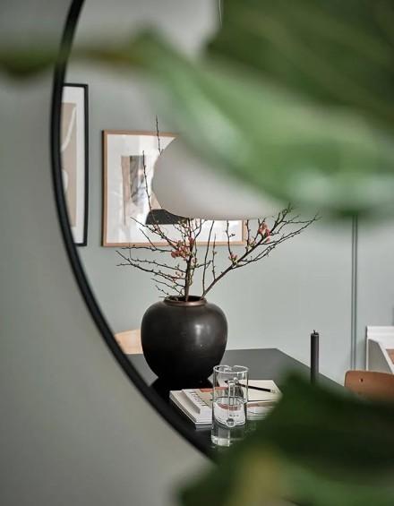 64㎡莫兰迪绿原木公寓功能区